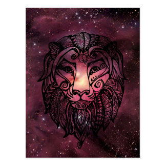Star lion postcard