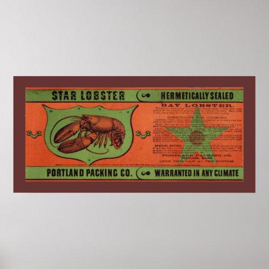Star Lobster Vintage Label Art Poster