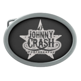 Star Logo Black Belt Buckle Johnny Crash