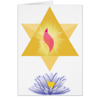 Star Lotus Greeting Card