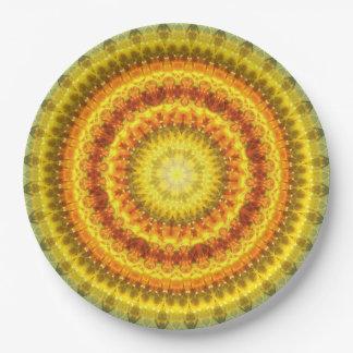 Star Lotus Mandala Paper Plate