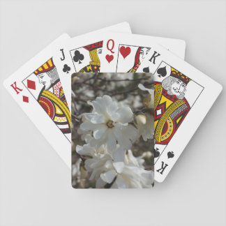 Star Magnolia Blooms Playing Cards