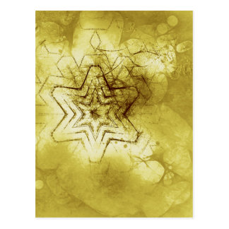 Star mandala in gold greeting card