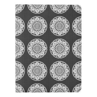 Star Mandala knitting black & white Extra Large Moleskine Notebook