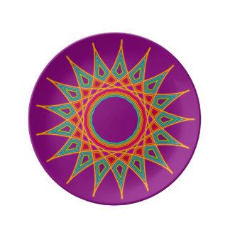 Star Mandala Porcelain Plate