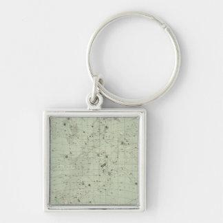 Star map keychain