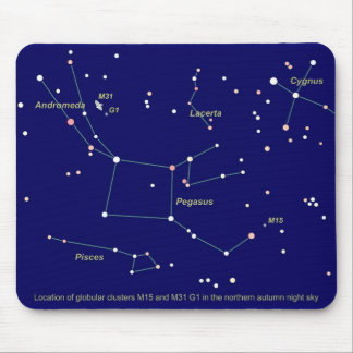 Star Map Mouse Pads