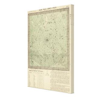 Star map of North polar region Canvas Print