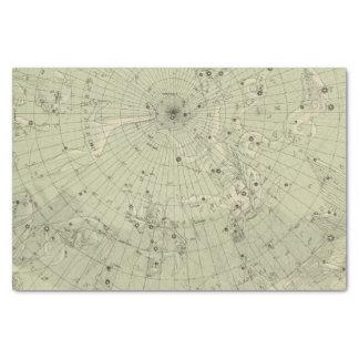 "Star map of North polar region 10"" X 15"" Tissue Paper"