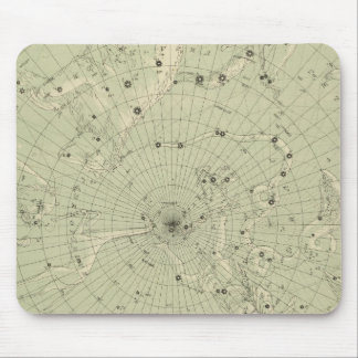 Star map of North polar region Mouse Pad