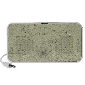 Star map of North polar region Travel Speaker