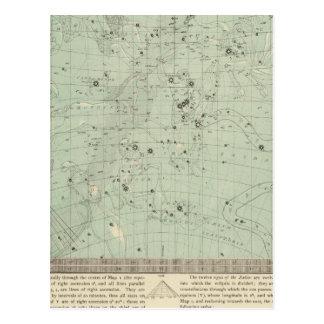 Star map postcard