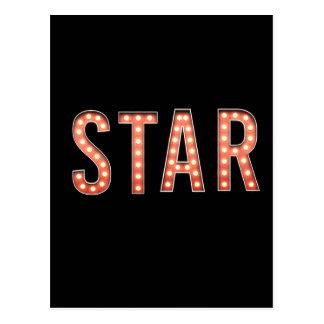 STAR Marquee Lights Postcard