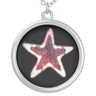 Star Material Necklace Round Pendant Necklace
