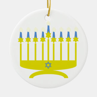 Star Menorah Ceramic Ornament