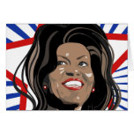Star Michelle Obama Greeting Card