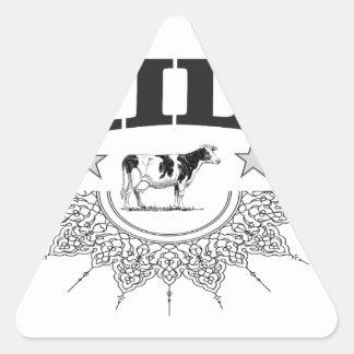 Star milk black cow triangle sticker