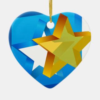 Star Mold Cutout Icon Ceramic Ornament