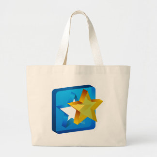 Star Mold Cutout Icon Large Tote Bag