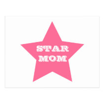STAR MOM | Pink Star Mother's Day Postcard
