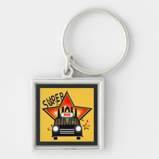 Star Mom Taxi Mothers Day Keychain 2