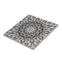 Star Mosaic Fantasy Fractals Art Pattern Ceramic Tile
