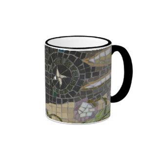Star mosaic ringer mug