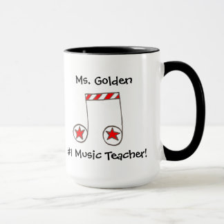 Star Musical Note Music Teacher Gift Mug