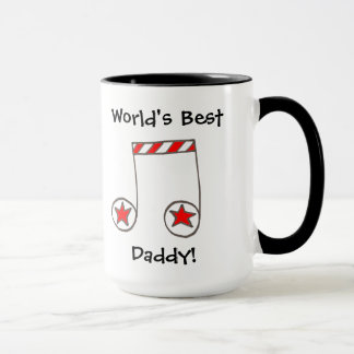 Star Musical Note World's Best Daddy Gift Mug