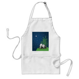 Star Night Panda Adult Apron