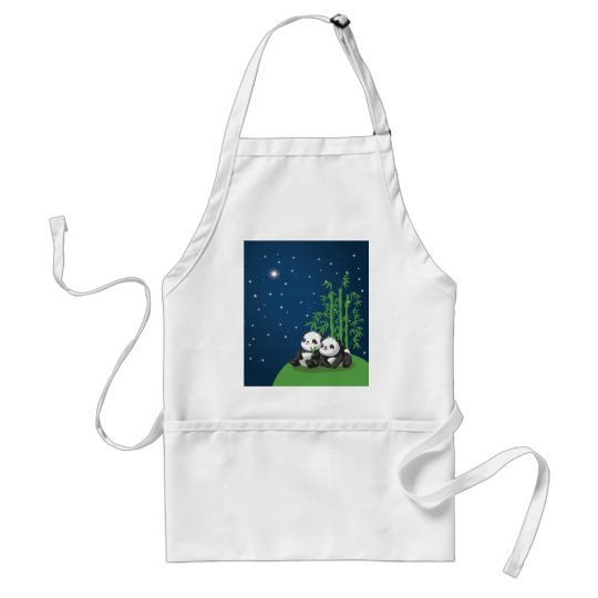 Star Night Panda Adult Apron