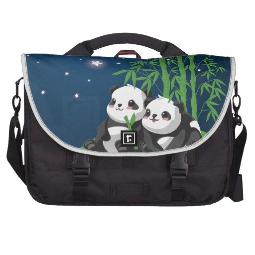 Star Night Panda Commuter Bags
