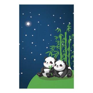 Star Night Panda Stationery