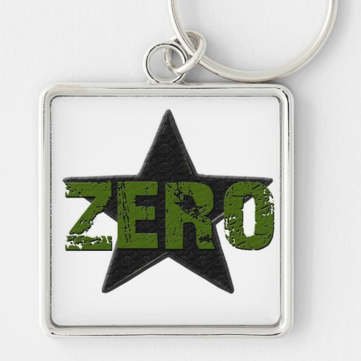 Star Number Key Chains
