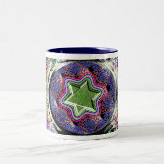 Star o' David beveled Two-Tone Coffee Mug