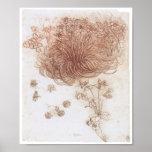 Star of Bethlehem and Other Plants, Da Vinci Poster