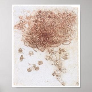 Star of Bethlehem and Other Plants Da Vinci Poster