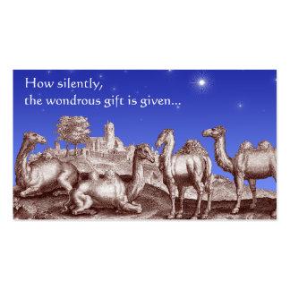 Star of Bethlehem Biblical Christmas Gift Cards Business Card Template