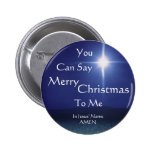 Star of Bethlehem, Can Say, Merry, Christmas, T... Pinback Button