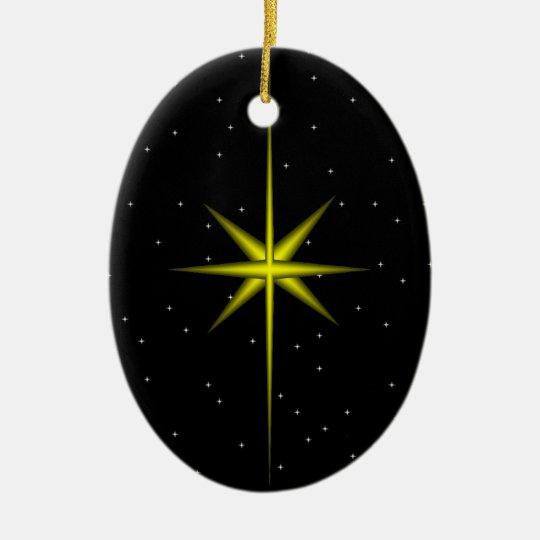 Star of Bethlehem Ceramic Ornament