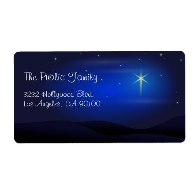 The star of bethlehem christmas customs and traditions for Catholic address labels