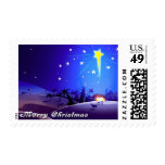 Star of Bethlehem. Christmas Postage Stamp