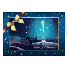 Star Of Bethlehem. Customizable Christmas Card at Zazzle