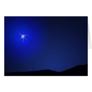 Star of Bethlehem Lighting The Way Greeting Card