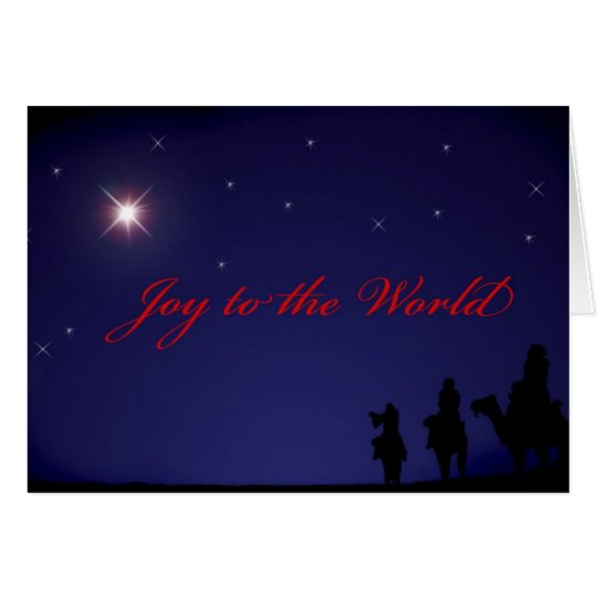 Star of Bethlehem & The 3 Wise Men Card