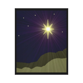 Star of Bethlehem Wrapped Canvas