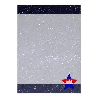 "Star of Cambodia Flag 5"" X 7"" Invitation Card"
