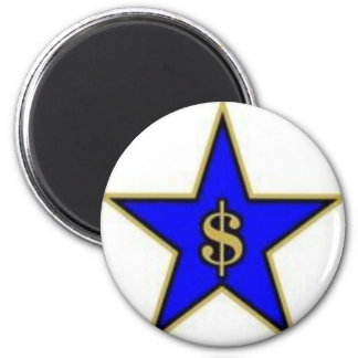 Star of Capitalism 2 Inch Round Magnet