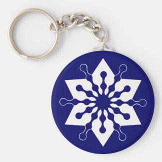 Star of Christmas Winter Ice Crystal Snowflake Keychain
