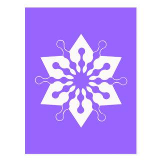 Star of Christmas Winter Ice Crystal Snowflake Postcard